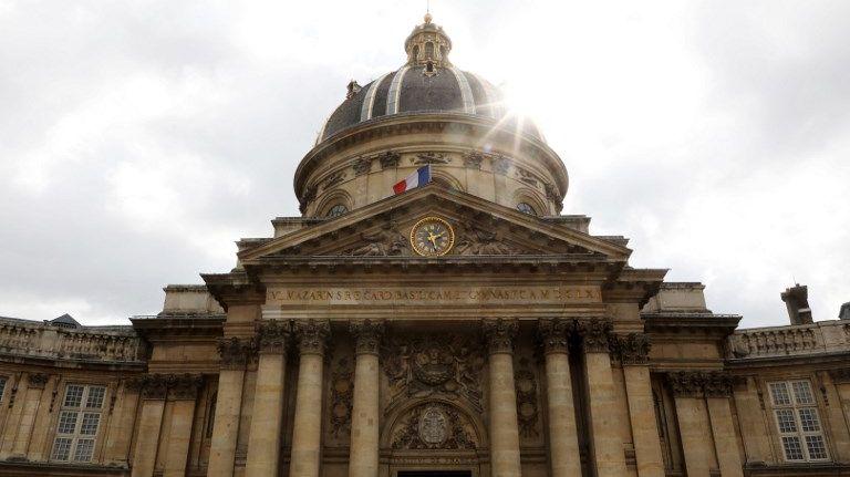 La coupole de l'Académie française à Paris, le 20 mars 2018