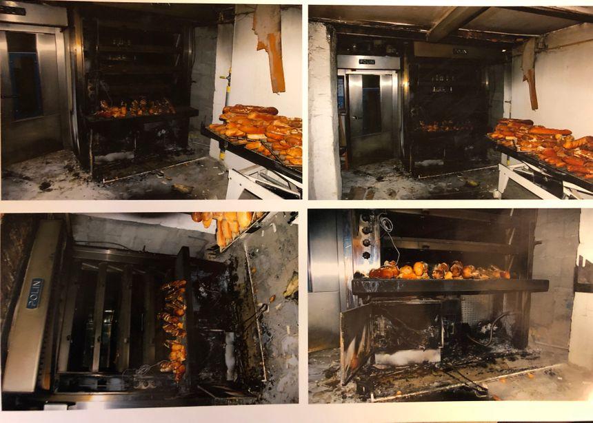 Le boulanger prenait sa pause lorsque l'armoire électrique s'est mise à prendre feu accidentellement dans l'atelier.