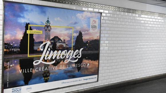 La ville de Limoges au cœur d'une nouvelle campagne dans le métro parisien jusqu'au 8 février
