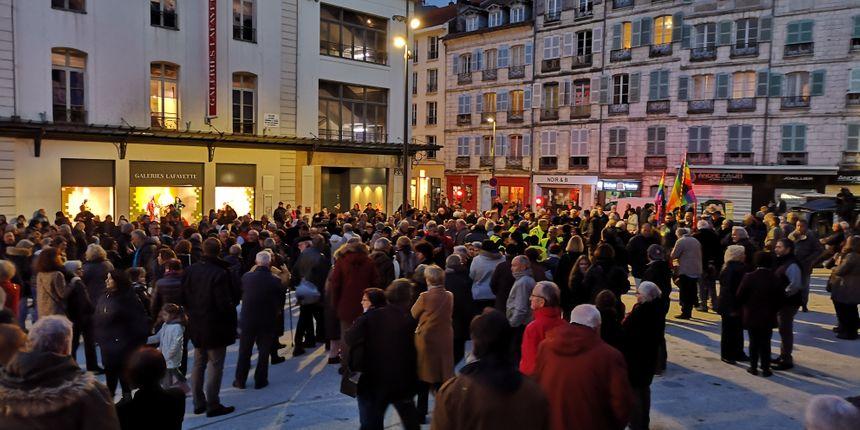 Le rassemblement bayonnais contre l'antisémitisme