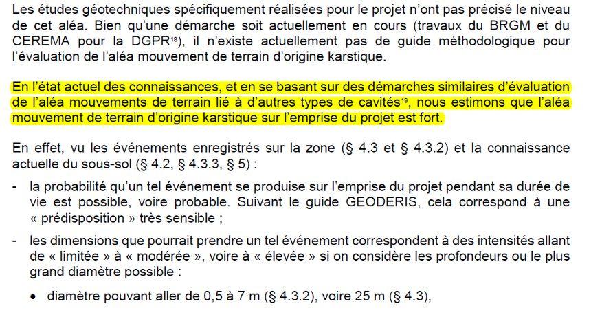 Page 65 du rapport du BRGM sur le projet de déviation et pont de Jargeau (septembre 2017)