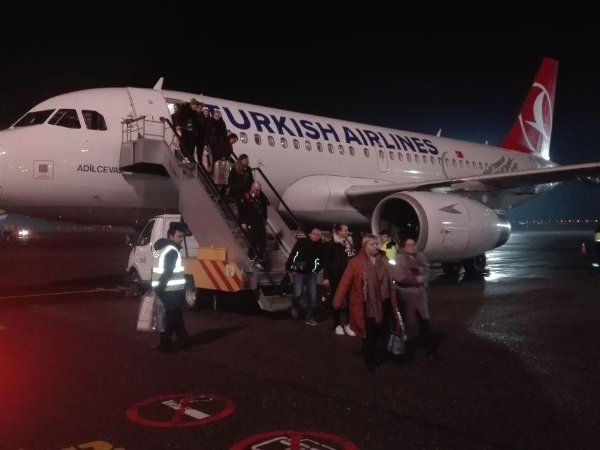 L'ESBF en train de débarquer sur le sol russe de Krasnodar, le 2 février 2019