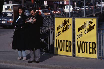 Affiche d'une votation à Genève en 1987
