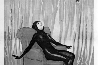 """Affiche du film """"Les Vampires"""" de Louis Feuillade, réalisé en 1915 avec l'actrice Musidora"""