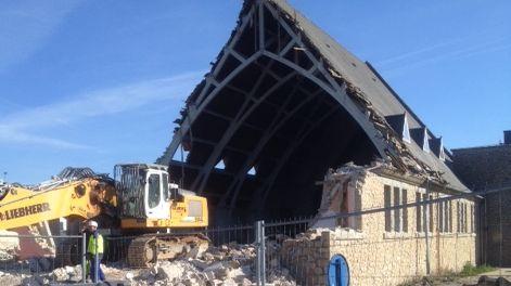 La chapelle de Morgat en cours de démolition