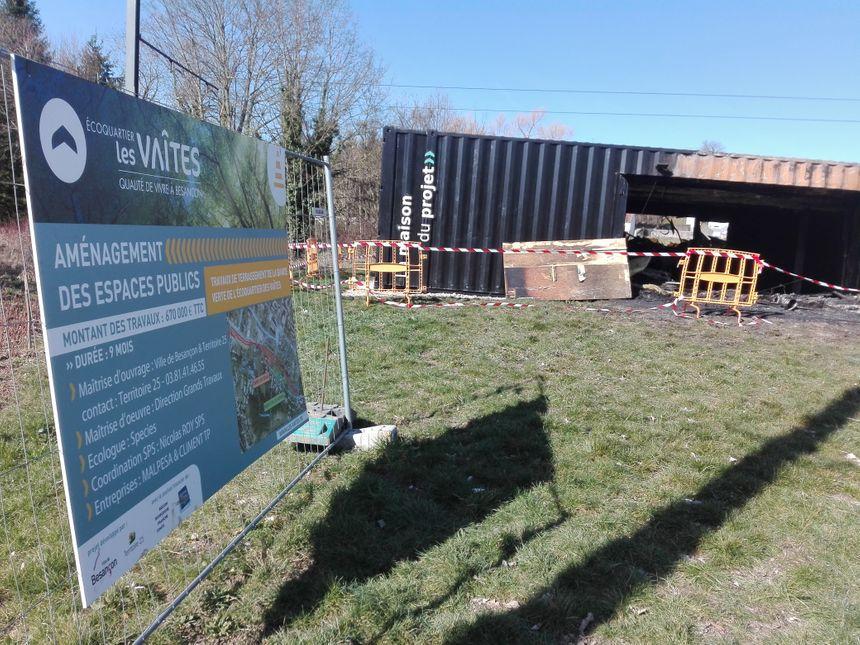 La maison du projet de l'éco-quartier des Vaîtes à Besançon était ouverte au public depuis le 28 avril 2018