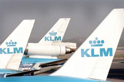 La couronne néerlandaise sur les ailes de KLM, la compagnie royale néerlandaise avant la fusion avec Air France.