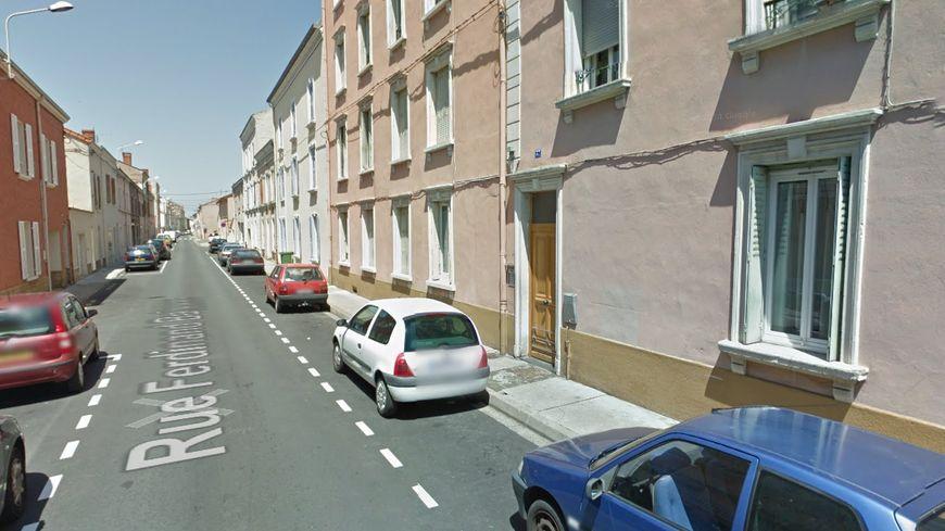 La rue Ferdinand Buisson à Roanne (capture d'écran)
