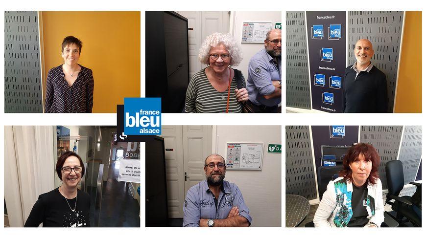 Vanessa, Christiane, Théo, Blanche, Eric et Martine, les auditeurs invités de France Bleu Alsace