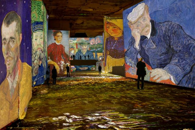 Simulation Van Gogh, la nuit étoilée