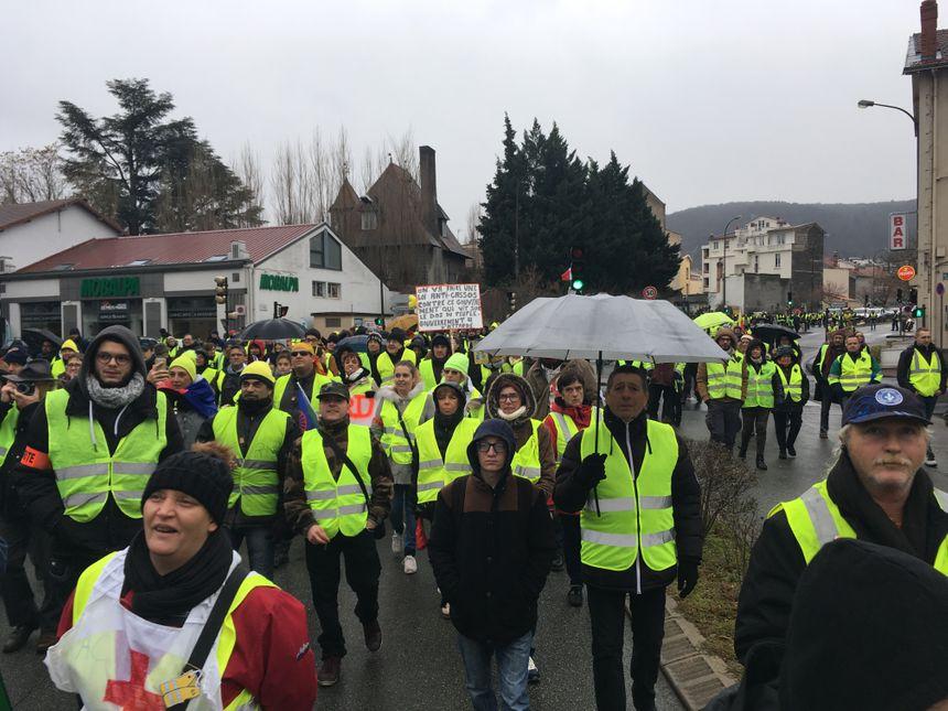 Les manifetsants étaient entre 600 et 1 000 dans les rues de Clermont