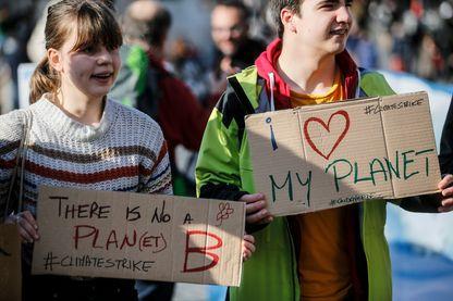 Les vendredis de la grève du climat, à Rome le 8 févier 2019, pour répondre à l'appel de Greta Thunberg, jeune Suédoise de 15 ans qui lutte contre la crise climatique
