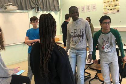 A Aubervilliers, une classe d'élèves de 3ème se prépare depuis plusieurs semaines à participer à un concours d'éloquence.