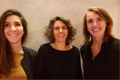 Clotilde Buisson, Gwenaëlle Riviere et Clara Piolatto les 3 architectes fondatrices de Faire Avec