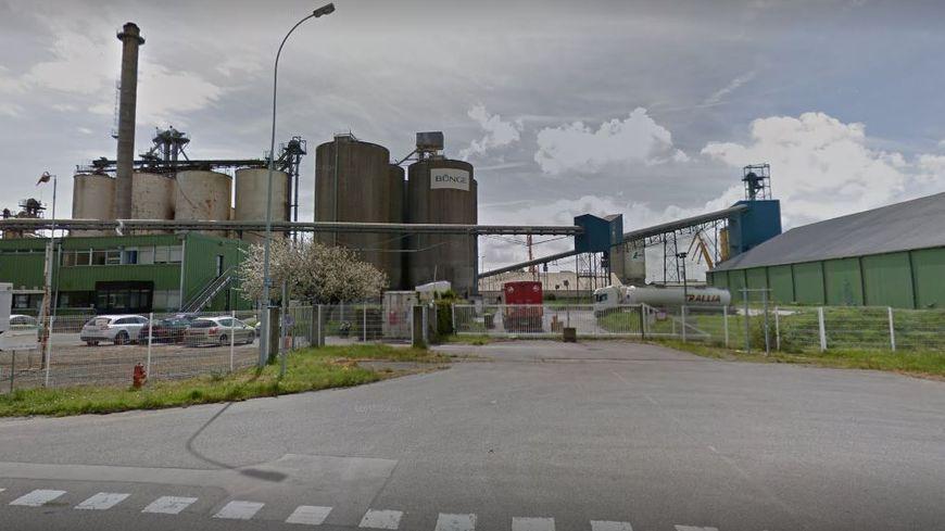 L'usine Bunge sur le port de Brest
