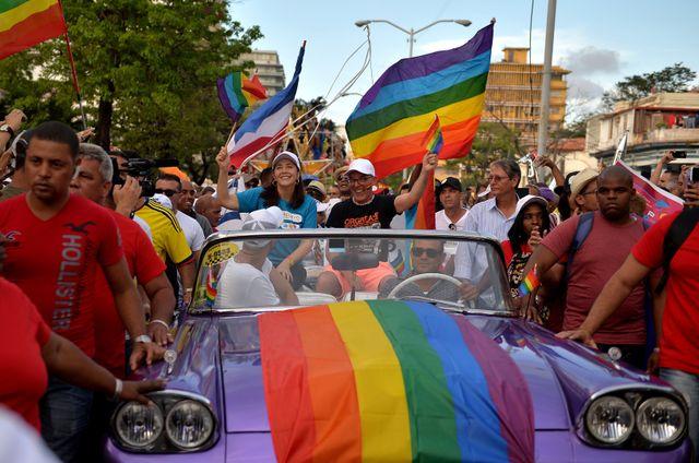 Mariela Castro, la fille de Raoul Castro, lors de la gay pride à la Havane le 12 mai 2018