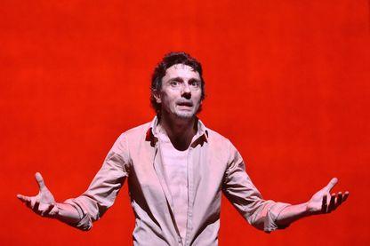 "Stanislas Nordey (ici dans la pièce ""Baal"" de Brecht, en 2017)"