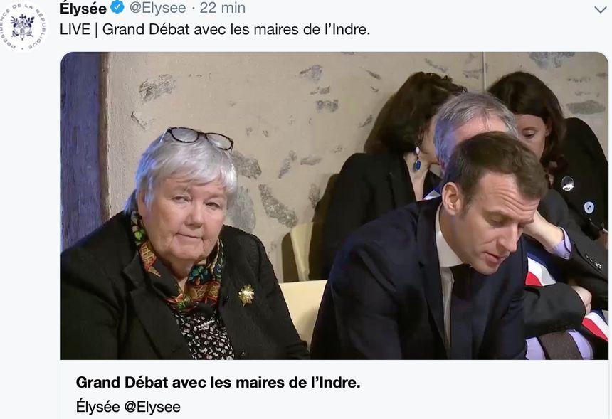 La ministre Jacqueline Gourault aux côtés du Président de la République
