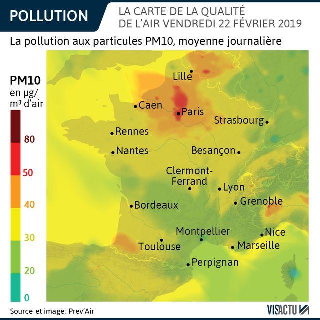 Pics de pollution dans plusieurs zones de France