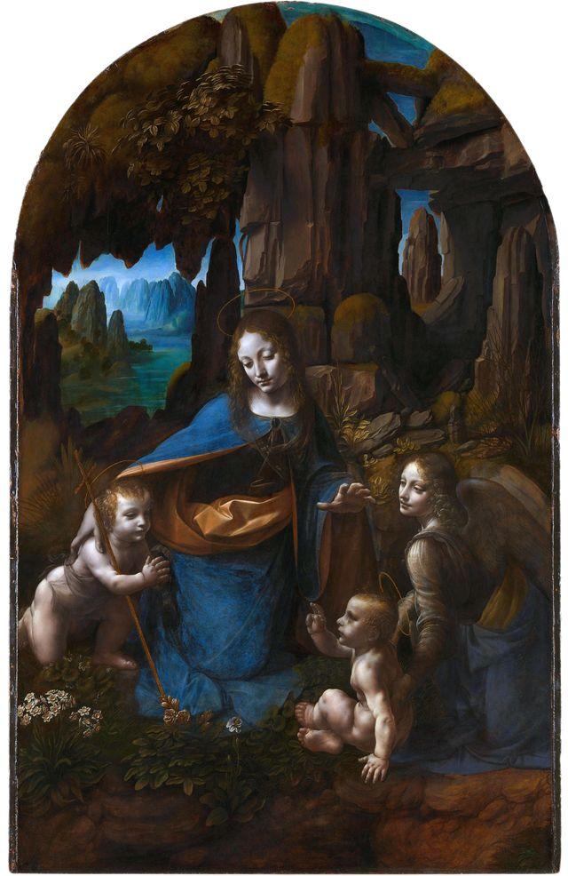 La vierge aux rochers, Léonard de Vinci