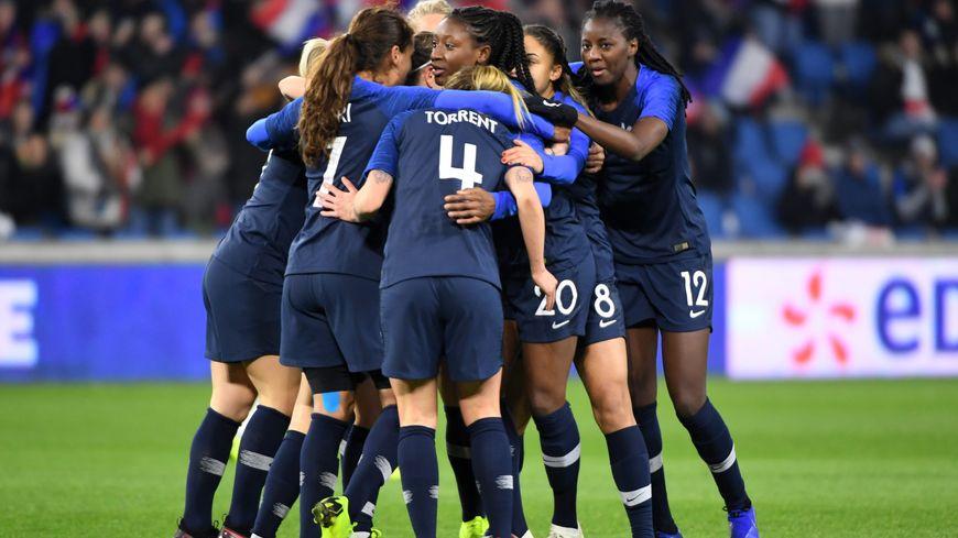 Les Bleues,en janvier, lors du match amical contre les Etats-Unis