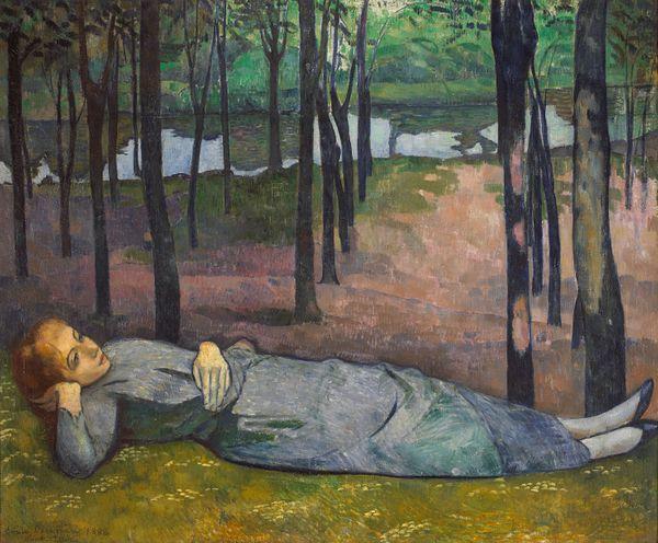 Emile Bernard (1868-1941) Madeleine au Bois d'Amour, 1888, Huile sur toile, 137x 163 cm Paris, musée d'Orsay, inv. RF 1977 8