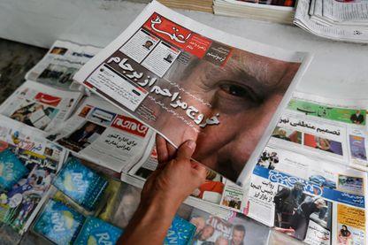 La presse iranienne le 9 mai 2018, au lendemain de l'annonce par Donald Trump du retraits des États-Unis de l'accord nucléaire avec l'Iran. Les Européens multiplient les efforts, depuis, pour maintenir l'accord en vie.