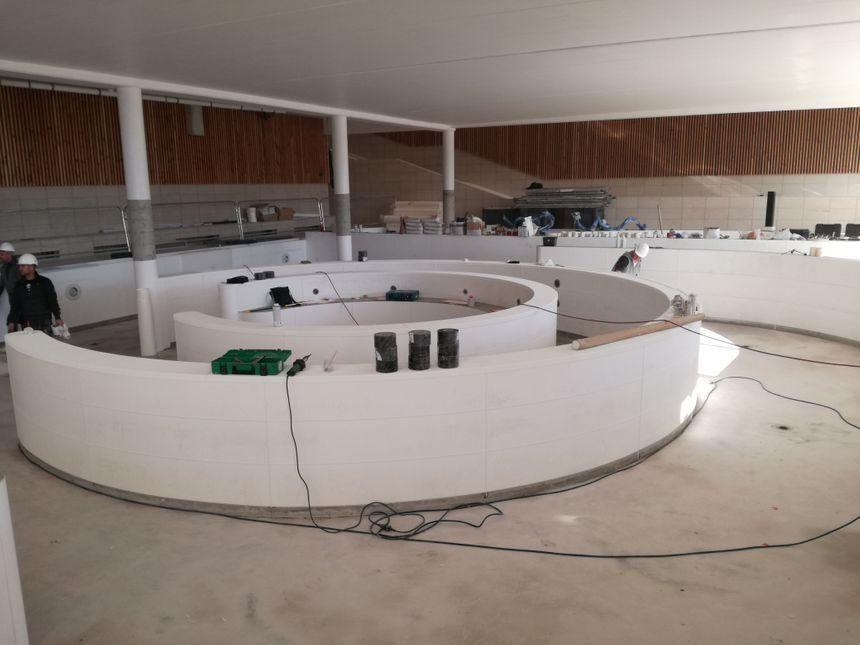 Le futur bassin ludique de l'Aquapôle