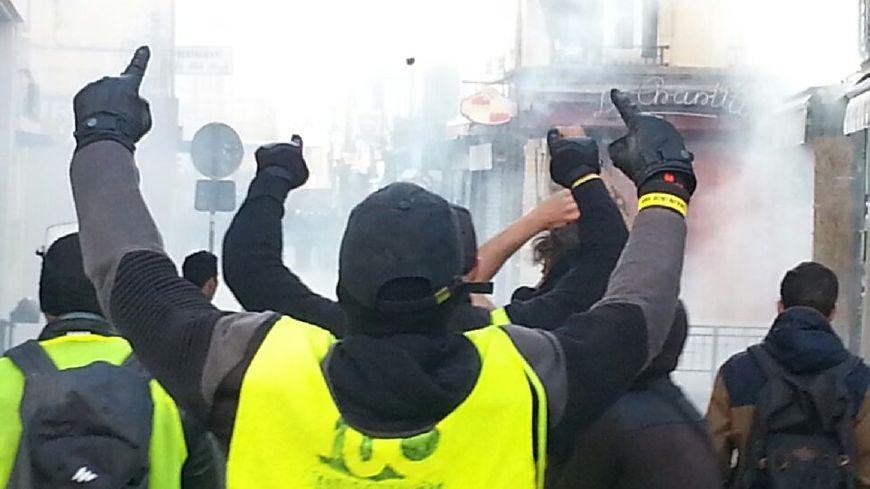 Plusieurs altercations ont eu lieu entre manifestants et force de l'ordre