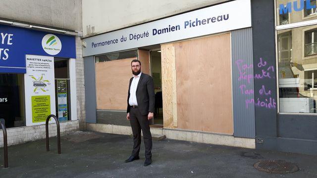 La permanence du député LREM Damien Pichereau vandalisée (18 février 2019)