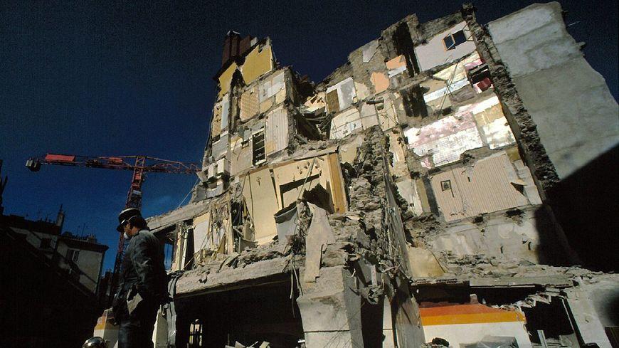Effondrement de la maison des Tête à Toulon, le 15 février 1989.