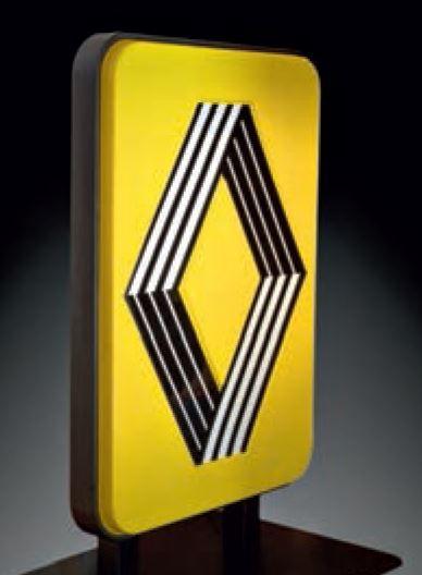 "Logo Renault dessiné par Victor Vasarely et Yvaral, autre artiste du courant ""Optical Art"""