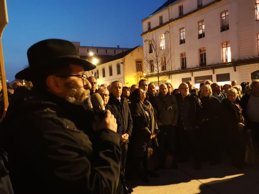 Le rassemblement contre l'antisémitisme de Bayonne