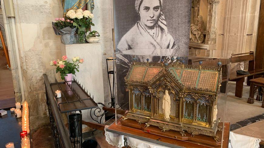 Les reliques de Bernadette Soubirous.