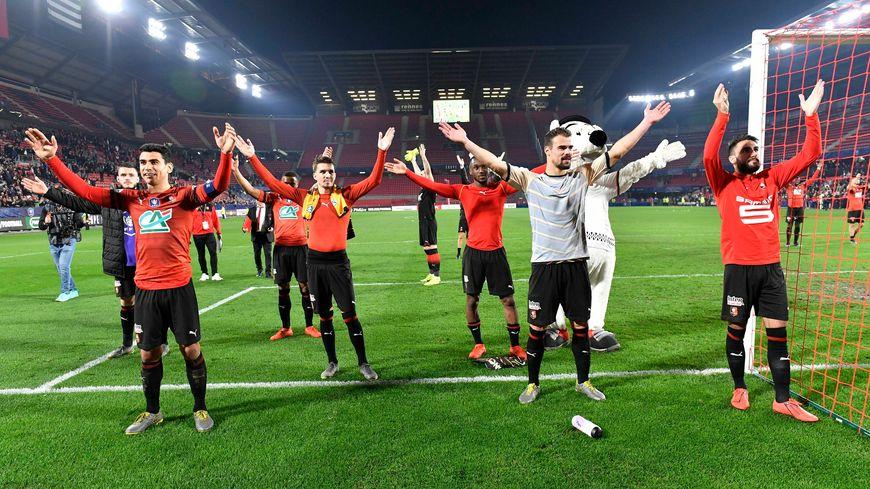 Les Rennais savourent après leur victoire contre les Orléanais