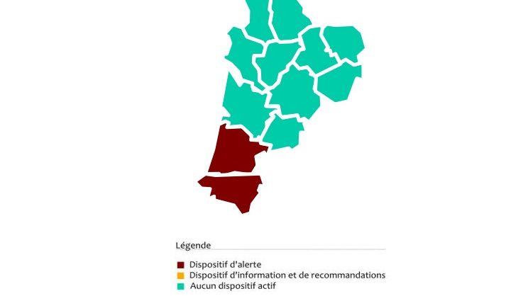Capture d'écran ATMO Nouvelle-Aquitaine
