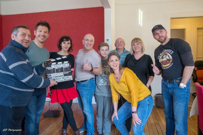 L'équipe du court métrage, avec tout à droite : Sylvain Pelissier, le scénariste réalisateur.