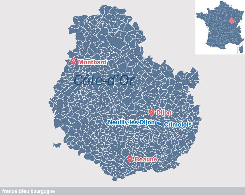 La commune de Neuilly-Crimolois, née de deux communes le 28 février 2019
