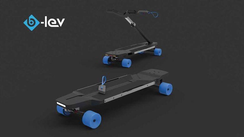 Le skate trottinette breton de B-Lev Technology