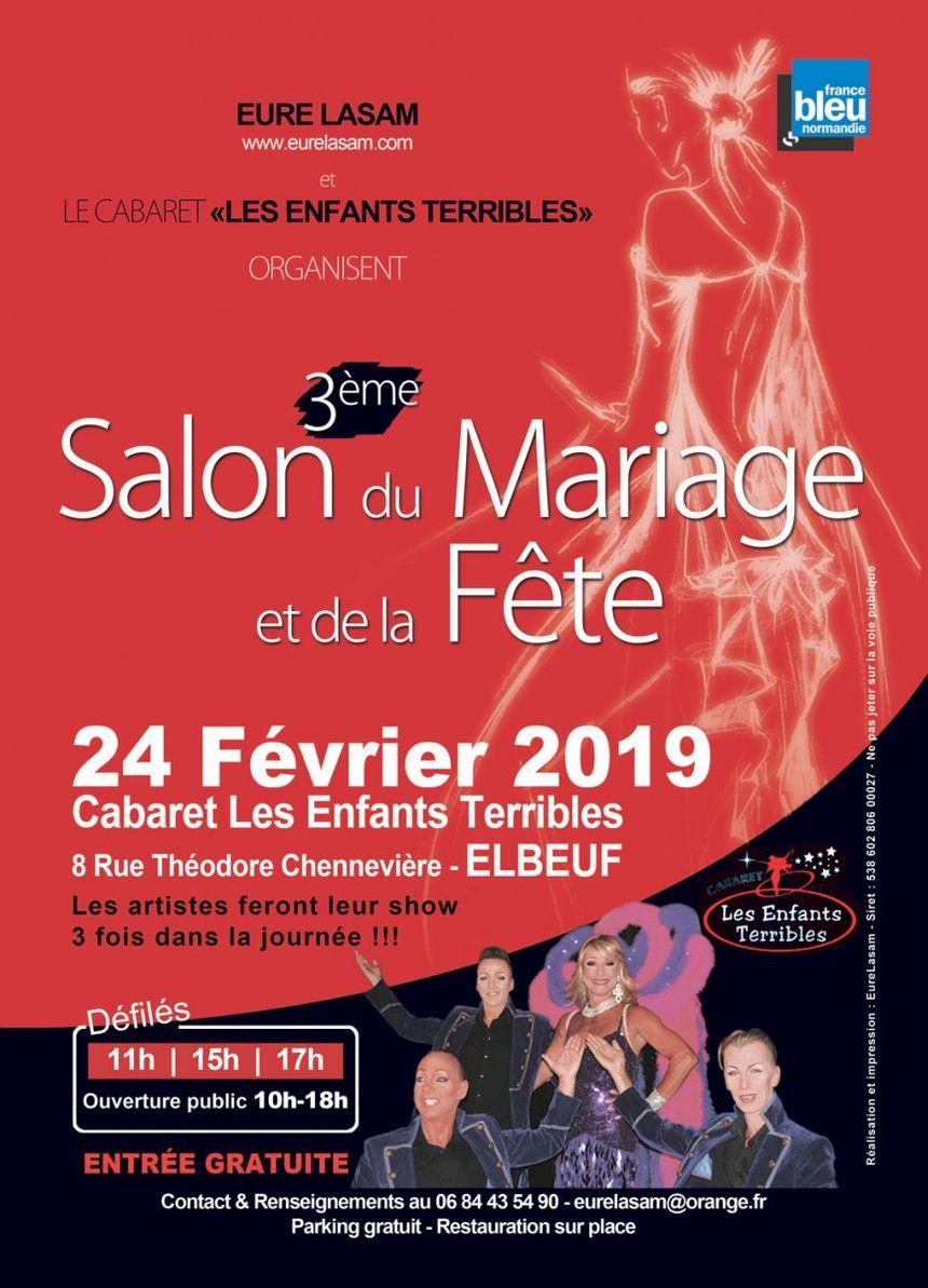 Affiche Salon du mariage et de la fête - Cabaret les enfants terribles à Elbeuf 2019