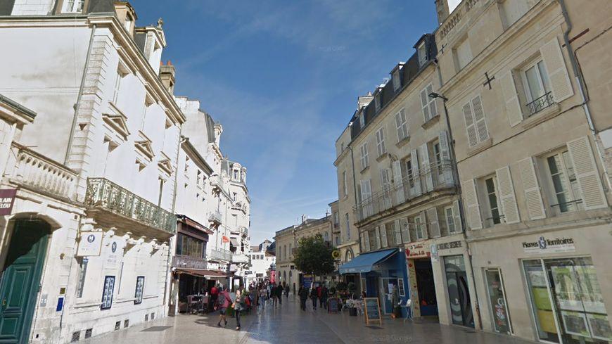 La rue Carnot où a eu lieu l'accident de vélo en 2014.