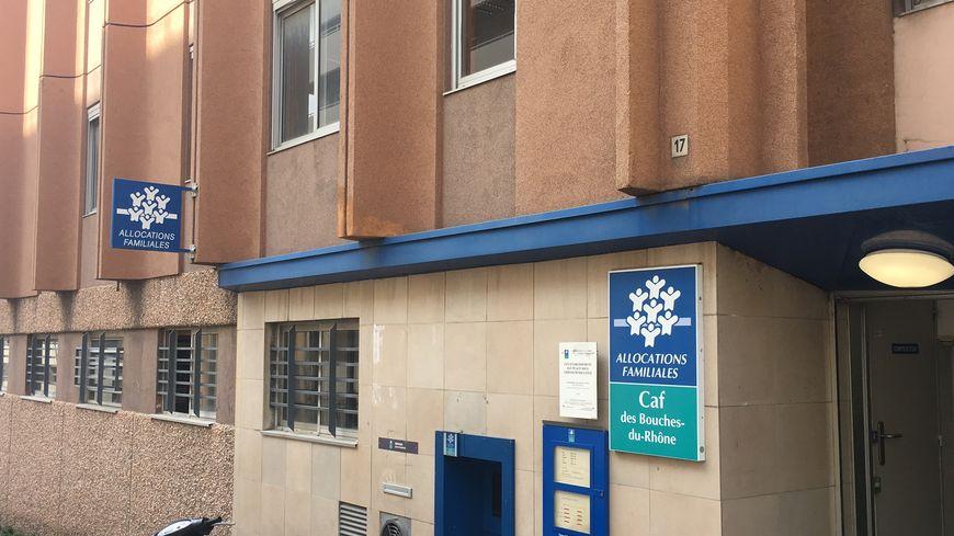 Une agence de la CAF (Caisse d'allocations familiales) à Marseille (13002)