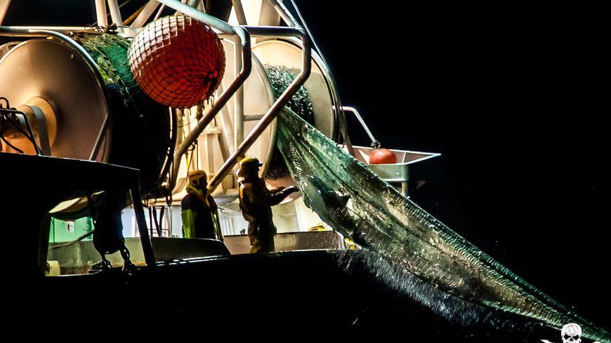 L'une des images prises pa l'ONG lors de son opération en mer