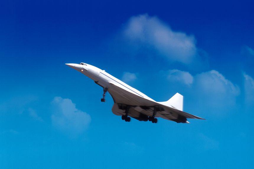 Le Concorde en plein vol.