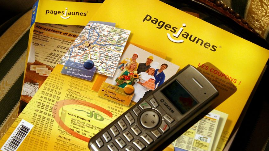 Un exemplaire de 2009 de l'annuaire des Pages jaunes.