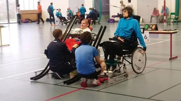 La Boccia, discipline pratiquée en fauteuil est inscrite aux jeux paralympiques (photo d'illustration).