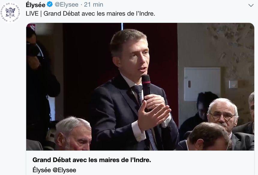 Gil Avérous, maire de Châteauroux s'adresse à Emmanuel Macron
