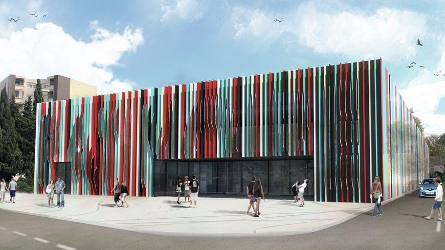 Le projet modernisation de la façade de la patinoire d'Avignon