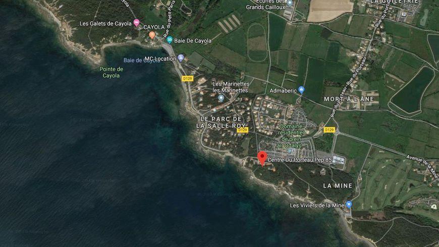 L'accident a eu lieu au centre de loisirs du Porteau à Talmont-Saint-Hilaire