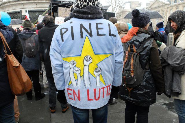 """""""Pinel en lutte"""", manifestation du 22 janvier 2019, Paris."""